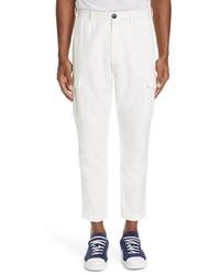 Eleventy Cotton Linen Cargo Trousers