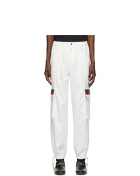 Gucci Off White Canvas Cargo Pants