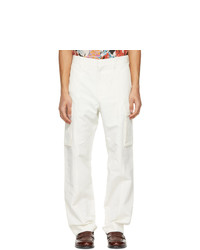 Stella McCartney Off White Shared Cotton And Linen Cargo Pants