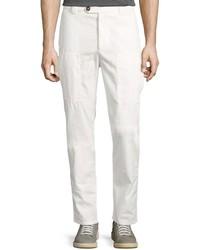 Brunello Cucinelli Parachute Leisure Cargo Pants Off White