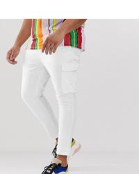 ASOS DESIGN Plus Super Skinny Ankle Grazer Cargo Trousers In White