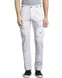 PRPS Slim Fit Cargo Pants White