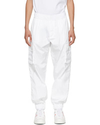 Valentino White Vltn Tag Cargo Pants
