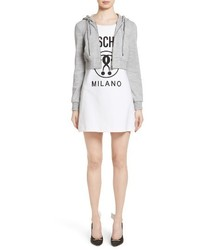 Moschino Logo T Shirt Dress With Attached Jacket
