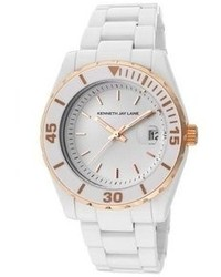 Kenneth Jay Lane 3000 Series White Dial White Ceramic