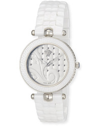 Versace 40mm Vanitas White Ceramic Watch