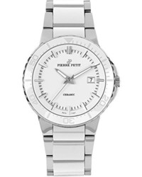 P 807b serie colmar white ceramic and stainless steel bracelet watch medium 177280