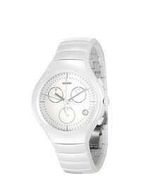 Rado true white ceramic chronograph watch r27832012 medium 177299