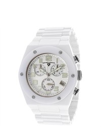 Swiss legend throttle white ceramic watch medium 177298