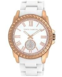 Vince Camuto Pyramid Bezel Ceramic Bracelet Watch 44mm X 49mm