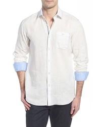 Bugatchi Shaped Fit Linen Sport Shirt