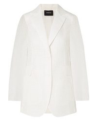 Akris Alina Checked Cotton Blend Voile Blazer