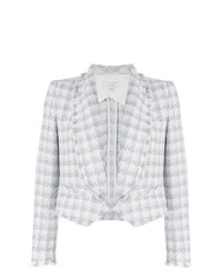 IRO Checked Raw Hem Blazer
