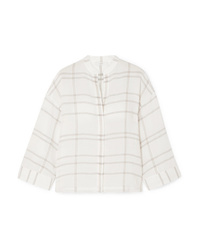 Vince Carpinteria Checked Gauze Shirt
