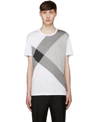 Burberry White Foster Check T Shirt