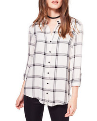 Mono split check shirt medium 1316467