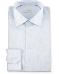 Slim fit graph check woven dress shirt light blue medium 588957
