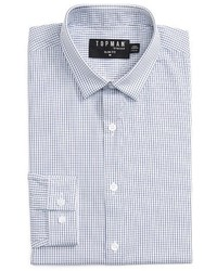 Slim fit grid check dress shirt medium 3721435