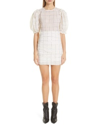 Isabel Marant Check Print Organza Dress