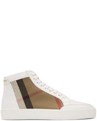 White salmond check high top sneakers medium 4391983