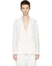 White linen check blazer medium 3699753