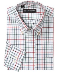 White Check Long Sleeve Shirt