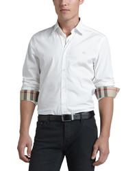 Burberry Cambridge Check Detail Sport Shirt White