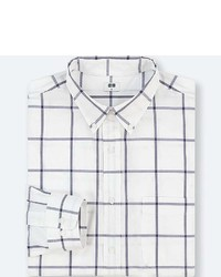 Uniqlo Extra Fine Cotton Checked Long Sleeve Shirt