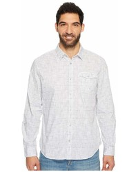 Calvin Klein Jeans Long Sleeve Space Dyed Check Button Down Shirt