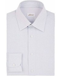 Brioni Micro Checked Cotton Dress Shirt