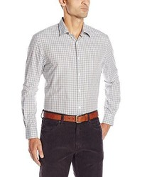 Perry Ellis Long Sleeve Multi Color Dobby Check Shirt