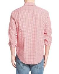 Lacoste Regular Fit Long Sleeve Gingham Poplin Woven Shirt