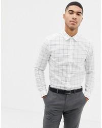 ASOS DESIGN Slim Work Shirt In Check
