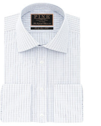 Thomas Pink George Check Classic Fit Double Cuff Shirt