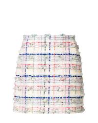 Thom Browne Mini Skirt In Madras Pouf Tweed