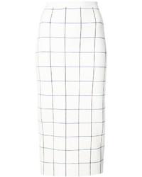 Victoria Beckham Check Pencil Skirt