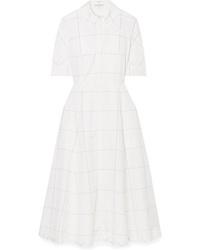 Emilia Wickstead Janis Checked Cotton Poplin Dress