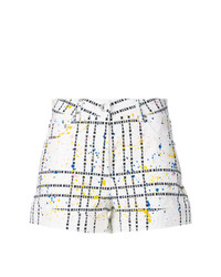 MSGM Logo Check Pattern Shorts