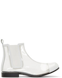 Comme des Garcons Comme Des Garons Clear White Pvc Chelsea Boots
