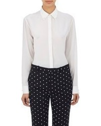 Givenchy Pearl Button Blouse White