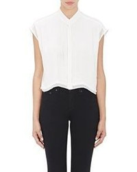 Each x other chiffon crop shirt white size xs medium 559454