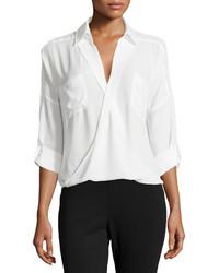 White Chiffon Dress Shirt