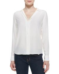 Adalyn silk long sleeve blouse medium 178472