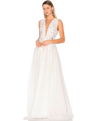 Lurelly Floral Embellished Silk Gown