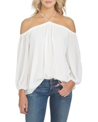 1 STATE 1state Off The Shoulder Sheer Chiffon Blouse