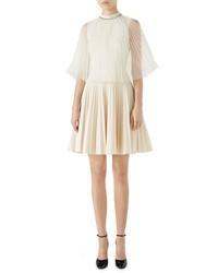 Gucci Chiffon Cape Pleated Dress