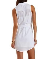 Charlotte Russe Sleeveless Chiffon Shirt Dress