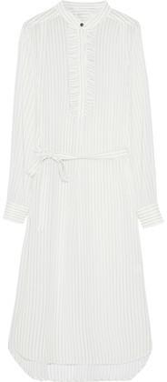 Zimmermann Tuxedo Pinstripe Chiffon Shirt Dress