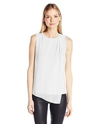 Calvin Klein Sleeveless Top With Chiffon Overlay