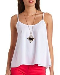Charlotte Russe Strappy Swing Tank Top